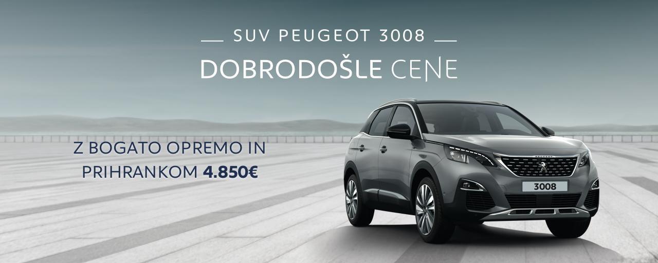 Peugeot 3008 akcija