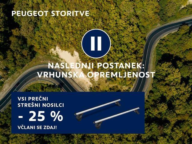 stresni nosilce Peugeot
