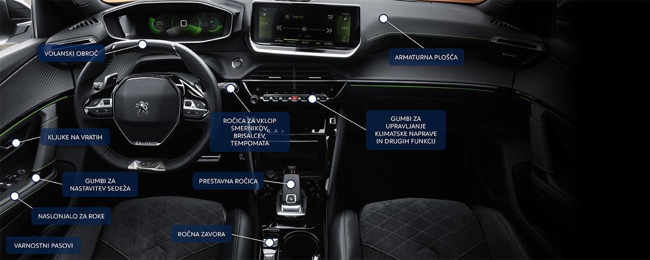 Peugeot notranjost