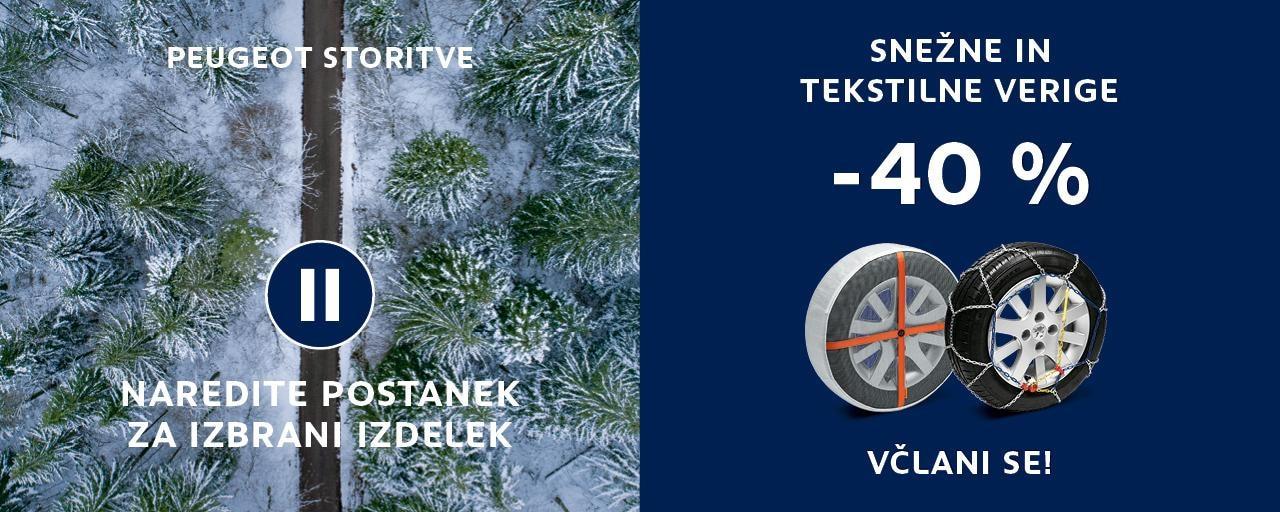 Snežne in tekstilne verige za avto