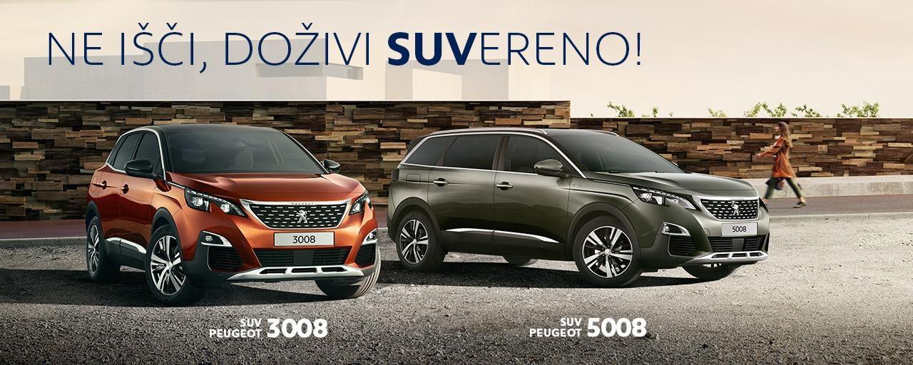 ponudba SUV vozil Peugeot