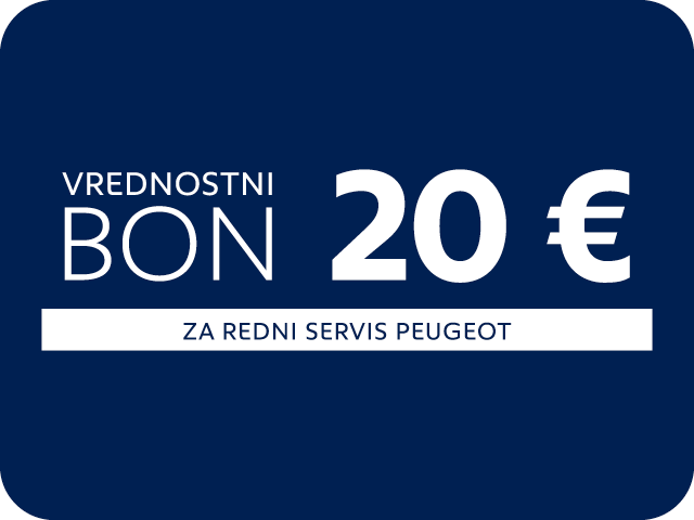 BON za servis Peugeot